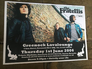 The Fratellis- Rare Concert/Gig poster, Greenock, June 2006