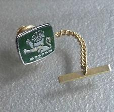 Vintage Tie Tack Stud Pin Retro Tac GREEN ENAMEL LION