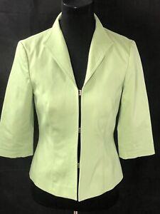 Hinged Nordstrom Women's 3/4 Sleeve Pastel Green Jacket XS