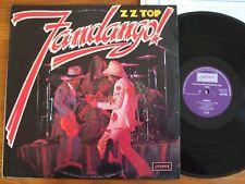 ORIGINAL VINYL LP ZZ TOP FANDANGO UK 1975 1ST PRESS LONDON SHU 8482 EXCELLENT EX