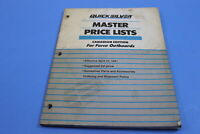OEM QUICKSILVER MERCURY MASTER PRICE LISTS CANADIAN EDITION PT# 90-821690-91