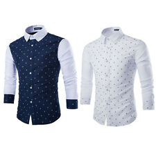 Father's Day Gift Men's Casual Slim Fit Stylish Formal Dress Shirts Long Sleeve