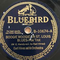 "78rpm [1940] EARL HINES ""Boogie Woogie On St Louis Blues"" Bluebird B-10674"