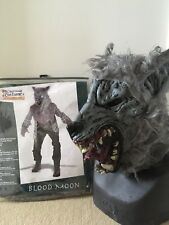 Horror Hslloween Blood Moon Werewolf Costume And Latex Mask