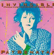 "Pat Benatar  Invincible vinyl 7"", 45 RPM, Single 1985 Chrysalis VS4 42877"