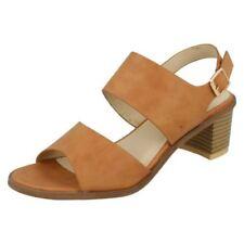 Zapatos de tacón de mujer de color principal marrón sintético talla 38