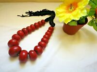 Berber amber necklace,strand Amber Moroccan vintage Handcrafted Jewelry.
