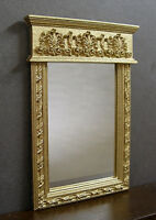 FRENCH  MIRROR  ~  Handcrafted  ~ Dollhouse Miniature ~ 1:12 scale ~ Room Box