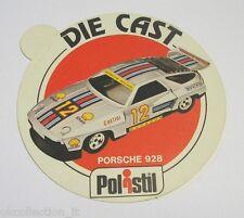 ADESIVO anni '80 / Old Sticker AUTO POLISTIL PORSCHE 928 (cm 9)