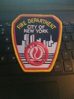 VINTAGE FDNY SHOULDER  PATCH LOOKS NEW  4 X 41/2 --SEE STORE FDNY PATCHES