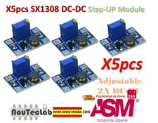 5pcs DC-DC SX1308 Step-UP Adjustable Step Up Boost Converter 2-24V to 2-28V 2A