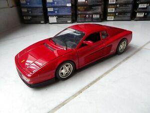 Ferrari Testarossa Red 1/18 Hotwheels Mattel Miniature Rare