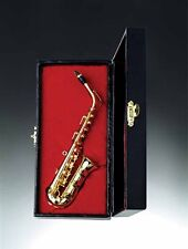 Miniature Gold Saxophone with Case 3.25 Inches (CGSA10) Music Instrument