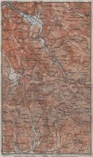 SABINA. Roviano Subiaco Arsoli Marano Aniene/Teverone river topo-map 1909