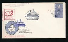 FALKLAND Is DEPENDENCY SOUTH GEORGIA 1974 SHIP MS LINDBLAD 1p on 1d MAP