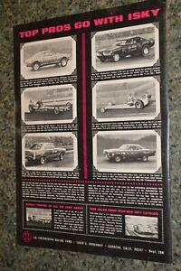 "★★1969 ISKY CAMS ""TOP PROS OF 69"" ORIGINAL ADVERTISEMENT AD 69 DRAG RACING"