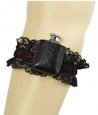 Ladies Garter With Hip Flask Saloon Pirate Womens Fancy Dress Costume Accessory