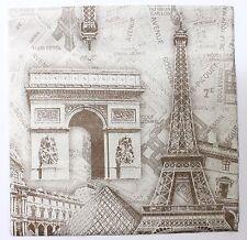 Lot 20 Mouchoirs Serviette Papier Souvenir Paris France Tour Eiffel 17,5 cm D