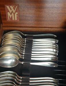 Wilkens Martin 508 Art Deco Bauhaus 12  Personen 60 tlg Tafel Besteck versilbert