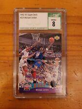 1992-93 Upper Deck #425 Michael Jordan All Star CSG 8 NM/Mint Bulls HOF