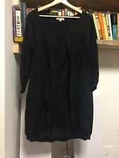 DAY BIRGER ET MIKKELSEN Black Light Cotton Viscose Long Sleeve Dress Tunic 36 10