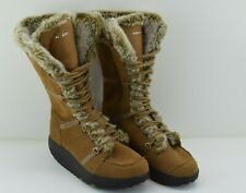 Skechers Shape Ups Women's Elasticity Tan Brown Faux Fur Knee Boots SN 11812