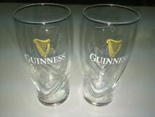 Guinness Irish Stout 20oz Embossed Gravity Glasses Set of 2