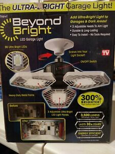 Beyond Bright Ultra, LED Ultra-Bright Garage Light 60,000 LUMENS MOTION ACTIVATE