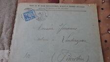 Enveloppe + Sage 15c YT 90 - de Vannes à Landerneau - 1900