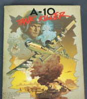 "A-10 Tank Killer Floppy Disk Dynamix for IBM PC 5.25"" Big Box 1989"