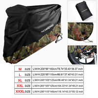 M-XXXL Camouflage Waterproof Motorcycle Bike Cover Scooter Dust Rain Protection