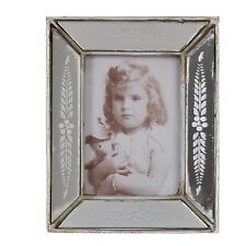 Bilderrahmen Spiegel -Optik Photo frame silber Vintage Stil 10 x 12,5 cm