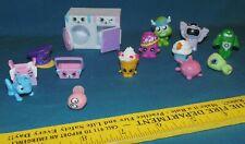 Shopkins lot - washer dryer basket hat bug food + other mini toys