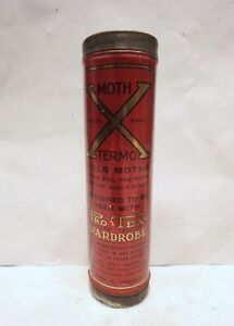 Vintage MOTH X TERMO KILLS MOTHS, EGGS, WORMS ADVERTISING INSECT TIN