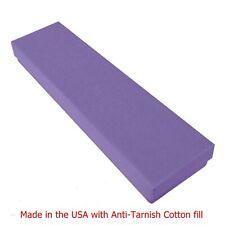 "100 Purple Matte Cotton Filled Jewelry Packaging Gift Box 8"" x 2"" x 1"""