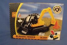 Toys New Block Truck Backhoe Building Blocks Set 18 pieces