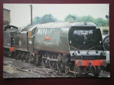 POSTCARD WEST COUNTRY CLASS LOCO 34015 'SWANAGE' AT ROPLEY LOCO SHED