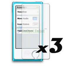3x New Clear LCD Film Screen Protector Guard Cover For iPod Nano 7 7th GEN