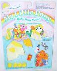 Hasbro MY LITTLE PONY BATHROBE & CLOWN SUIT MLP Baby Pony Wear 2 Outfits MOC`85!