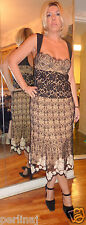 La Perla Pret-a-Porter silk/lace overlay knit dress size 46 ret$3500
