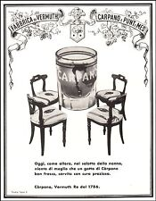 PUBBLICITA' 1957 VINO VERMOUTH RE CARPANO PUNT E MES  WINE BAR STUDIO A.TESTA