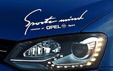 Opel Sports Mind Aufkleber Astra Corsa Insignia Vectra Omega Calibra Emblem Logo