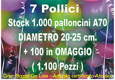 PALLONCINI COLORATI 1000+100 pz 19cm diam 7 Pollici PARTY FESTA ANIMAZIONE STOCK