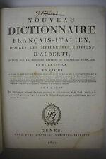 1811 Dictionnaire Francais-Italien *French - Italian Dictionary *Super Rare!!
