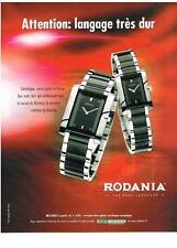 PUBLICITE ADVERTISING    2006    RODANIA  montre MYSTERY