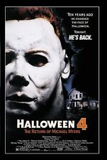 Halloween 4 movie poster print  : 11 x 17 inches :  The Return Of Michael Myers