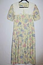 New listing Vintage Laura Ashley Yellow Floral English Tea Dress Size 8