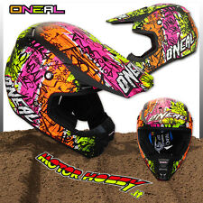 CASCO CROSS ENDURO O'NEAL ONEAL SERIE 5 VANDAL BLACK NEON YELLOW TAGLIA M  57 58