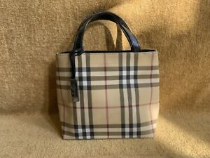 Authentic vintage Burberry small nylon tote bag in nova check