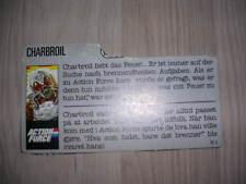 gi joe Charbroil File Card 1988 Nordic UK/Europe Exclusive #2!